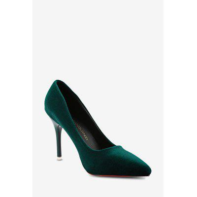Pointed Toe Suede Ladies Thin High Heel ShoesWomens Pumps<br>Pointed Toe Suede Ladies Thin High Heel Shoes<br><br>Available Size: 35, 36, 37, 38, 39, 40<br>Heel Height: 9.5 cm / 3.74 inch<br>Heel Type: Stiletto Heel<br>Occasion: Dress<br>Outsole Material: Rubber<br>Package Contents: 1 x Pair of Women Thin High Heel Shoes<br>Pumps Type: Basic<br>Season: Spring/Fall, Summer<br>Shoe Width: Medium(B/M)<br>Toe Shape: Pointed Toe<br>Toe Style: Closed Toe<br>Upper Material: Suede<br>Weight: 0.5580kg