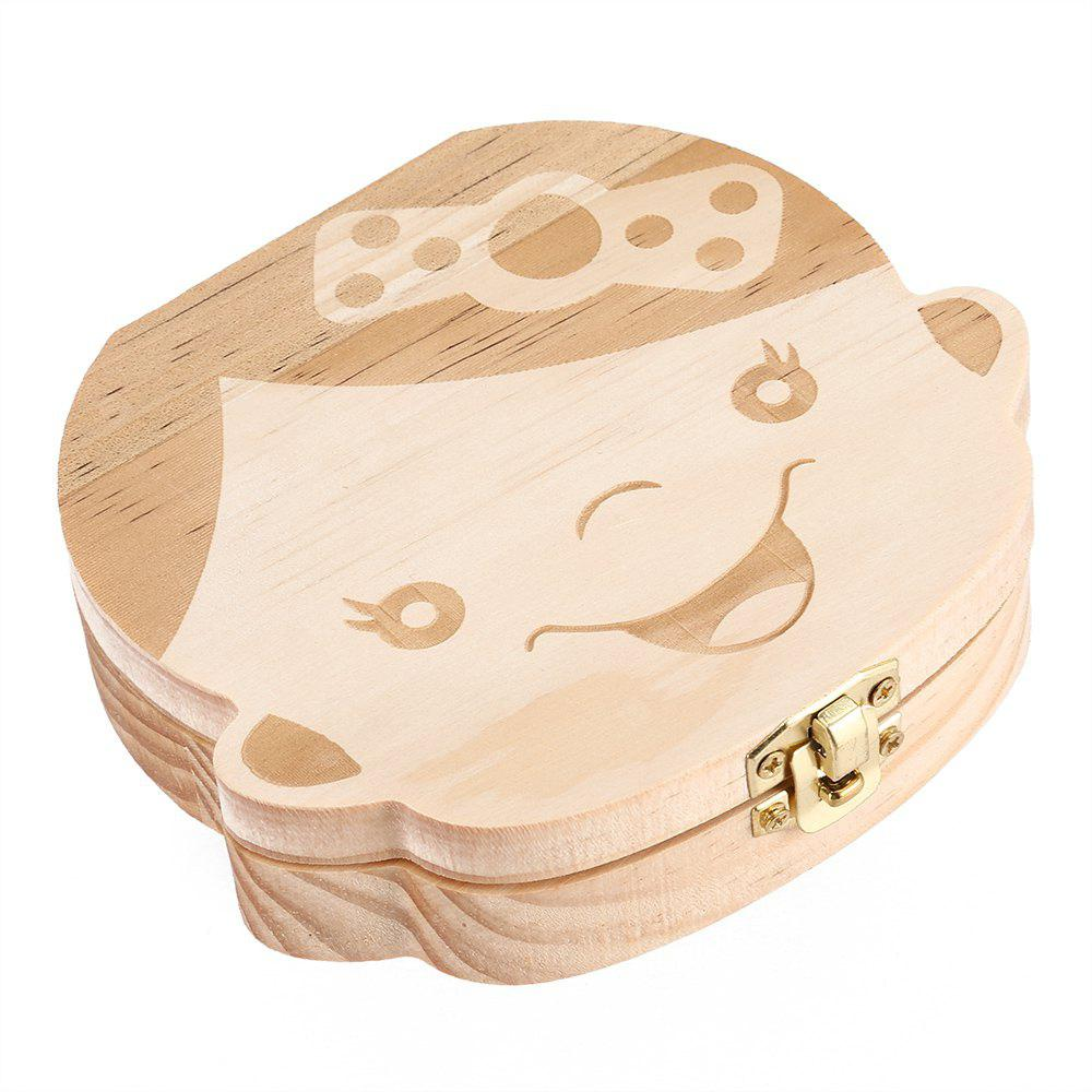 Wooden Baby Tooth Storage Box