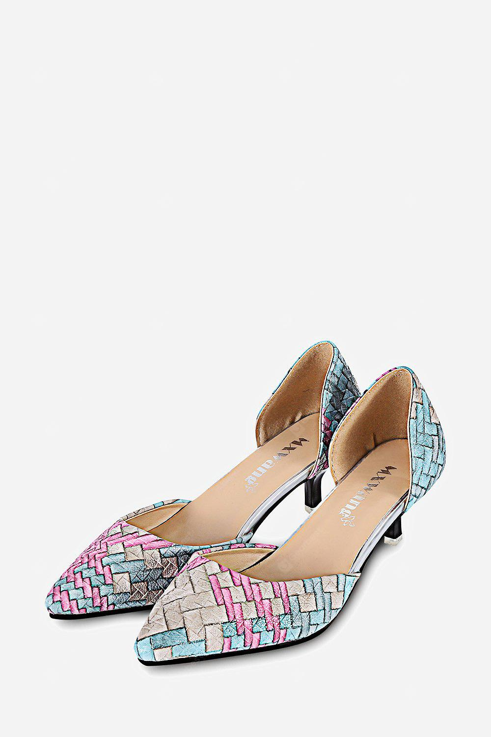 SPA Colorful Ladies Low Heel Shoes