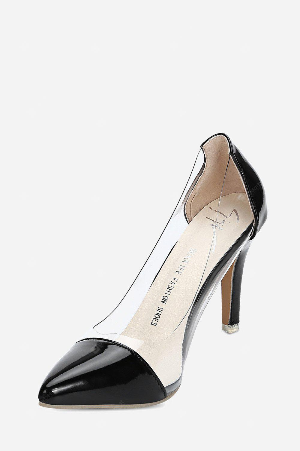 Pointed Toe See-through Thin High Heel Women Shoes