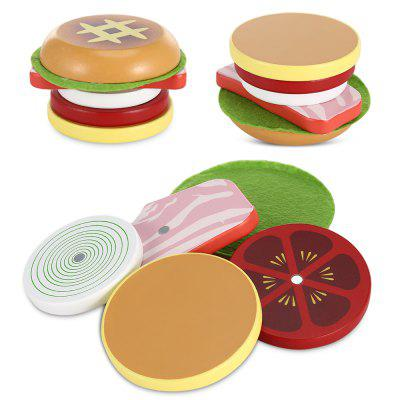 Hamburger Shape Wooden Sliced Toy от GearBest.com INT