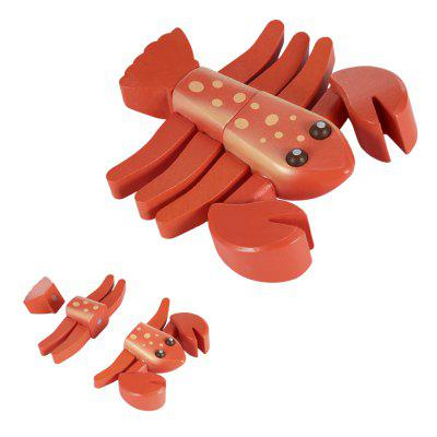 Lobster Shape Wooden Sliced Toy от GearBest.com INT