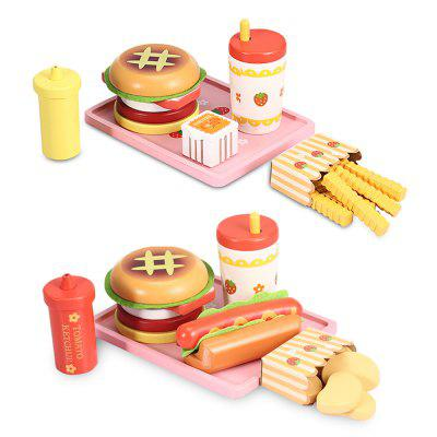 Wooden Play Kitchen Food Set от GearBest.com INT