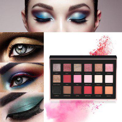 FOCALLURE Makeup 18 Color Matte Pearly Eye Shadow PaletteEye Makeup<br>FOCALLURE Makeup 18 Color Matte Pearly Eye Shadow Palette<br><br>Feature: Natural<br>Formulation: Powder<br>Net Content(ml): 18g<br>Package Content: 1 x Eye Shadow Palette<br>Package size (L x W x H): 18.60 x 1.60 x 11.60 cm / 7.32 x 0.63 x 4.57 inches<br>Package weight: 0.1900 kg<br>Product size (L x W x H): 18.00 x 1.20 x 11.30 cm / 7.09 x 0.47 x 4.45 inches<br>Product weight: 0.1430 kg<br>Waterproof / Water-Resistant: No