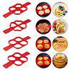 Non-stick Silicone Pancake Ring Fried Egg Mold - RED
