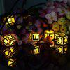 SS - 16 Waterproof Solar Powered Letter String Lamp Christmas Decor - WARM WHITE LIGHT