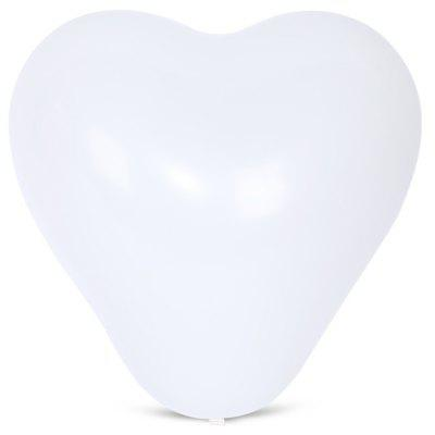 Buy WHITE 100pcs Latex Balloon Heart Shape for $7.74 in GearBest store