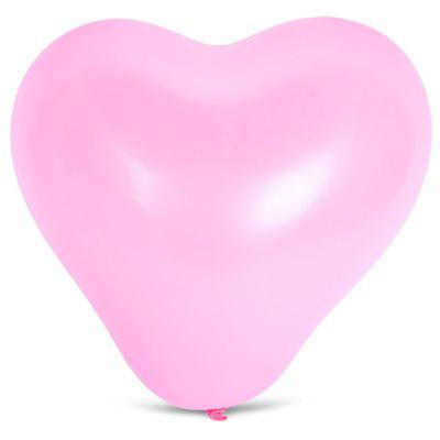 Buy PINK 100pcs Latex Balloon Heart Shape for $7.74 in GearBest store