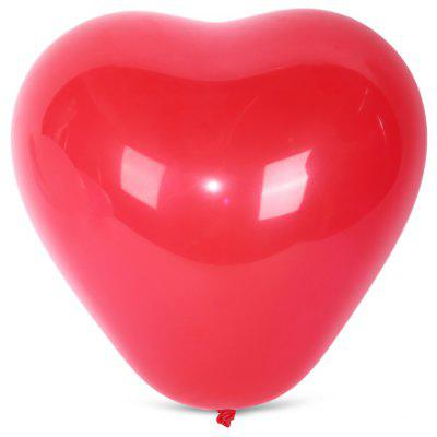 Buy RED 100pcs Latex Balloon Heart Shape for $7.74 in GearBest store