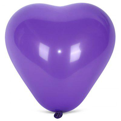 Buy PURPLE 100pcs Latex Balloon Heart Shape for $7.74 in GearBest store
