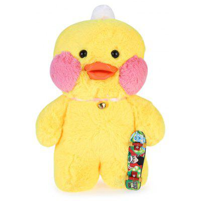 Cafe Mimi Stuffed Cute Duck Plush Doll with Fingerboard Toy Birthday Christmas Gift 30CM