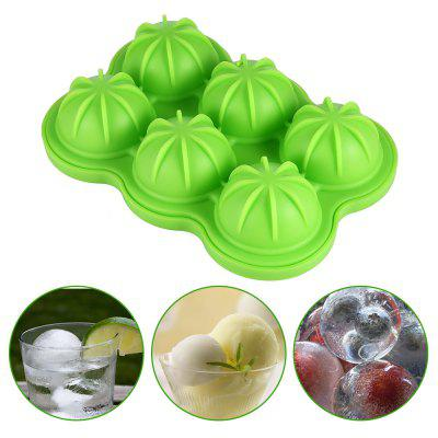 6 Cavity DIY Silicone Sphere Ice Cube Tray Frozen Mold