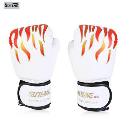 Suteng 1 Pair PU Leather Boxing Gloves