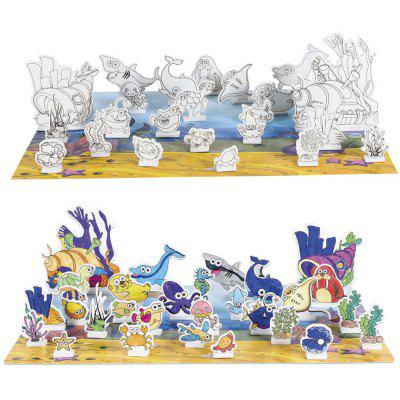 3D Drawing Puzzle Toy Set