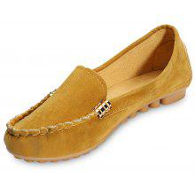 e35f9104029 Round Toe Slip-on Non-slip Loafers Women Flat Shoes