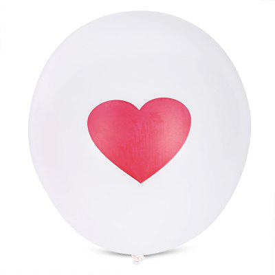 Buy WHITE 100pcs Love Pattern Latex Balloon for $10.24 in GearBest store