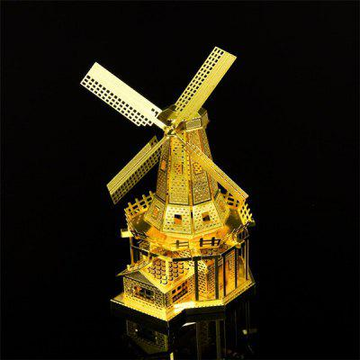 Stainless Steel Windmills Workshop Stereoscopic Puzzle