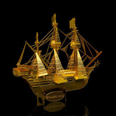 Stainless Steel Pirate Ship 3D Puzzle