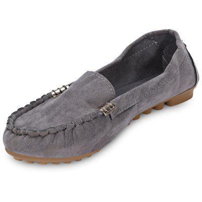 Round Toe Slip-on Non-slip Loafers Women Flat Shoes