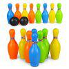 Children Sports Cartoon Toy Colorful Bowling - COLORMIX