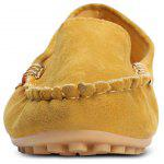Round Toe Slip-on Non-slip Loafers Women Flat Shoes - YELLOW