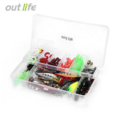Outlook 106pcs / Box Soft Fishing Bait Hard Metal Lure
