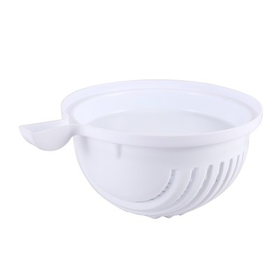 60-Seconds Salad Maker Cutter BowlFruit &amp; Vegetable Tools<br>60-Seconds Salad Maker Cutter Bowl<br><br>Material: PP<br>Package Contents: 1 x Salad Maker Cutter Bowl<br>Package Size(L x W x H): 20.50 x 18.50 x 10.50 cm / 8.07 x 7.28 x 4.13 inches<br>Package weight: 0.2780 kg<br>Product Size(L x W x H): 22.00 x 17.50 x 10.00 cm / 8.66 x 6.89 x 3.94 inches<br>Product weight: 0.1510 kg