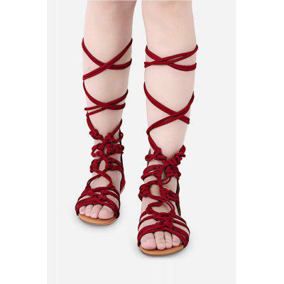 Cross Straps Design Zipper Ladies Gladiator Sandals
