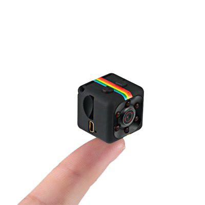 SQ11 Mini Camera 1080P HD DVRCar DVR<br>SQ11 Mini Camera 1080P HD DVR<br><br>Anti-shake: No<br>Aperture Range: f2.0<br>Audio System: Monophony<br>Battery Capacity (mAh?: 200mAh<br>Camera Pixel: 1.2MP<br>Charge way: USB charge by PC<br>Chipset: Generalplus1248<br>Decode Format: H.264<br>Features: HD<br>Function: Time Stamp, Night Vision, Loop-cycle Recording<br>GPS: No<br>Image Format: JPG<br>Image resolution: 12M (4032 x 3024)<br>Image Sensor: CMOS<br>ISO: ISO100<br>Language: English,French,German,Italian,Portuguese,Russian,Spanish<br>Lens Size: 3.6mm<br>Loop-cycle Recording: Yes<br>Loop-cycle Recording Time: 5min<br>Max External Card Supported: TF 32G (not included)<br>Model: SQ11<br>Motion Detection: Yes<br>Motion Detection Distance: 5 - 10m<br>Night vision: Yes<br>Night Vision Distance: 3 - 5m (optimal distance is 3m)<br>Operating Temp.: -10 - 50 Deg.C<br>Package Contents: 1 x DVR Camera, 1 x Clamp, 1 x English and Chinese Manual, 1 x Holder, 1 x Fixed Clip, 1 x Mini 8 Pin USB / TV Out 2-in-1 Cable<br>Package size (L x W x H): 9.50 x 9.50 x 3.50 cm / 3.74 x 3.74 x 1.38 inches<br>Package weight: 0.0910 kg<br>Parking Monitoring: No<br>Power Cable Length: 60cm<br>Product size (L x W x H): 2.20 x 2.20 x 2.20 cm / 0.87 x 0.87 x 0.87 inches<br>Product weight: 0.0180 kg<br>System requirements: Mac OS x 10.3.6 above,Win 7,Win 8,Windows 2000 / XP / Vista<br>Time Stamp: Yes<br>Type: Mini DVR<br>Video format: AVI<br>Video Frame Rate: 30fps<br>Video Output: AV-Out<br>Video Resolution: 1080P (1920 x 1080),720P (1080 x 720)<br>Video System: NTSC<br>Waterproof: No<br>Waterproof Rating: No<br>White Balance Mode: Auto<br>Wide Angle: 120 degree wide angle<br>Working Time: 2 - 3 hours<br>Working Voltage: 5V