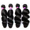 7A Brazilian Women Loose Wave Heat Resistant Hair Extension - NATURAL COLOR