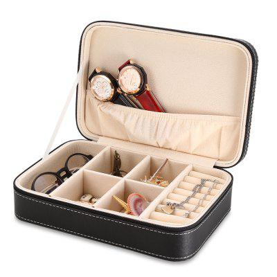 Multifunctional Watch Glasses Box Jewelry OrganizerWatch Accessories<br>Multifunctional Watch Glasses Box Jewelry Organizer<br><br>Material: PU Leather<br>Package Contents: 1 x Watch Case<br>Package Size(L x W x H): 26.00 x 18.00 x 8.00 cm / 10.24 x 7.09 x 3.15 inches<br>Package weight: 0.5880 kg<br>Product Size(L x W x H): 24.00 x 16.50 x 7.00 cm / 9.45 x 6.5 x 2.76 inches<br>Product weight: 0.4960 kg
