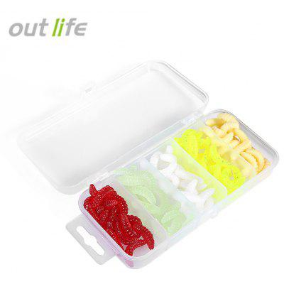 Outlife 101pcs / Set Maggot Grub Sombra de pesca suave