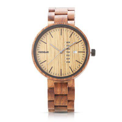 REDEAR SJ1639 Unisex Quartz Wooden WatchUnisex Watches<br>REDEAR SJ1639 Unisex Quartz Wooden Watch<br><br>Band Length: 6.46 inch<br>Band Material Type: Wooden<br>Band Width: 20mm<br>Case material: Wooden<br>Case Shape: Round<br>Case Thickness: 0.39 inch<br>Clasp type: Folding Clasp<br>Dial Diameter: 1.65 inch<br>Dial Display: Analog<br>Feature: Day, Date<br>Gender: Men,Women<br>Movement: Quartz<br>Package Contents: 1 x Watch, 1 x Box<br>Package Size(L x W x H): 15.50 x 6.10 x 3.20 cm / 6.1 x 2.4 x 1.26 inches<br>Package weight: 0.1430 kg<br>Product Size(L x W x H): 21.00 x 4.60 x 1.00 cm / 8.27 x 1.81 x 0.39 inches<br>Product weight: 0.0470 kg<br>Style: Simple