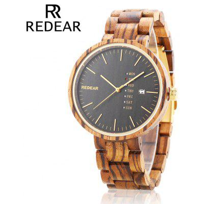 REDEAR SJ1639 Unisex Quartz Wooden Watch