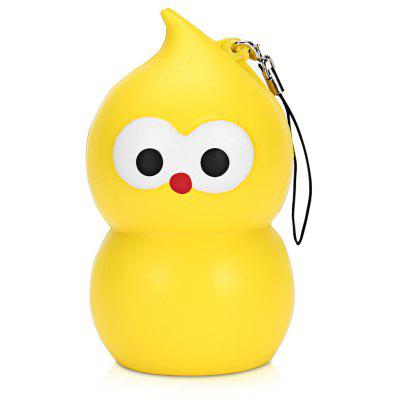 Squishy PU Slow Rising Simulate Small Gourd Toy Owl Pendant