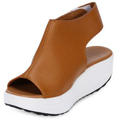 Open Toe Rocker Bottom Women Platform Sandals
