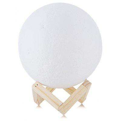 Rechargeable Touch Switch 3D Print Moon Lamp Decor Gift