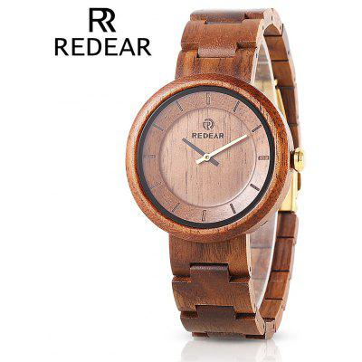 REDEAR SJ1628 Unisex Quartz Wooden Watch