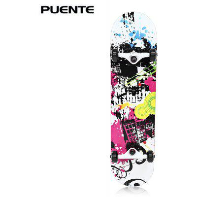 PUENTE 602 Snubby Four-wheel Maple Skateboard