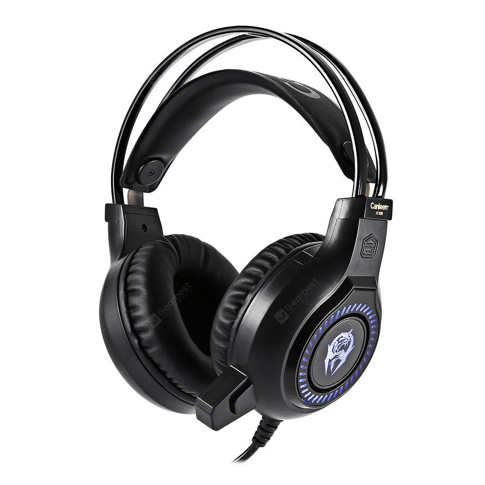 Canleen X13 Stereo Gaming Headset 2.2m Cable LED Light Headphone with Mic for Computer Game