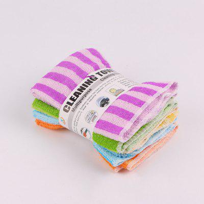 5pcs 30 x 30cm Microfiber Absorbent Cleaning Towel Dishcloth