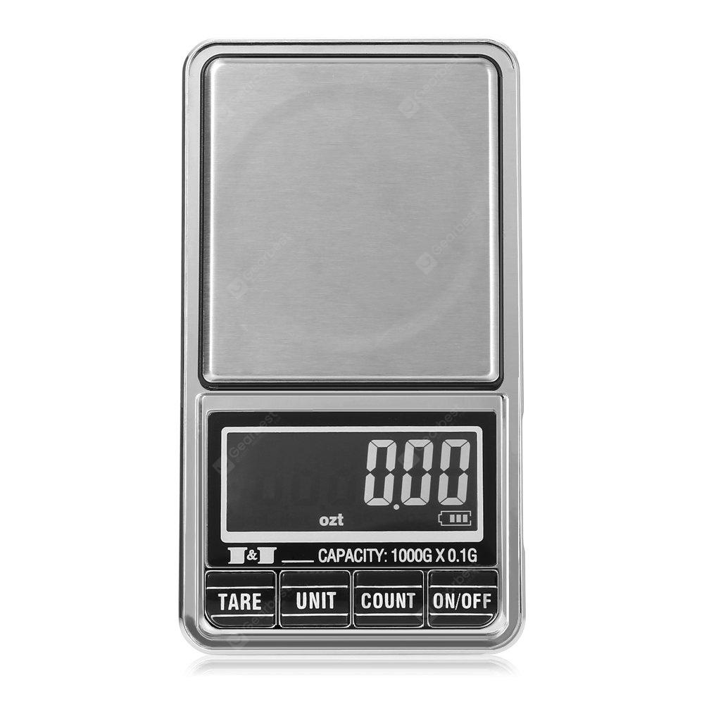 1000 x 0.1g Digital Weighing Scale with Back-lit LCD Display