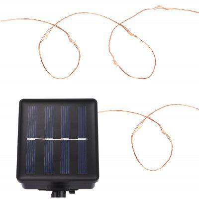Waterproof Solar Powered 100 LEDs Copper String Lamp