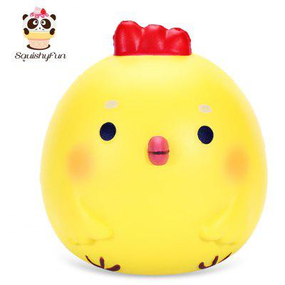 SquishyFun PU Slow Rising Simulate Jumbo Yellow Chicken Toy