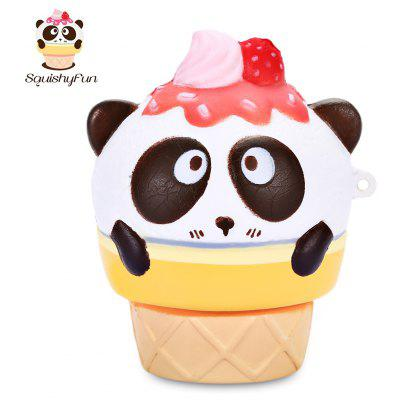 SquishyFun PU Slow Rising Simulate Cute Panda Ice Cream Toy