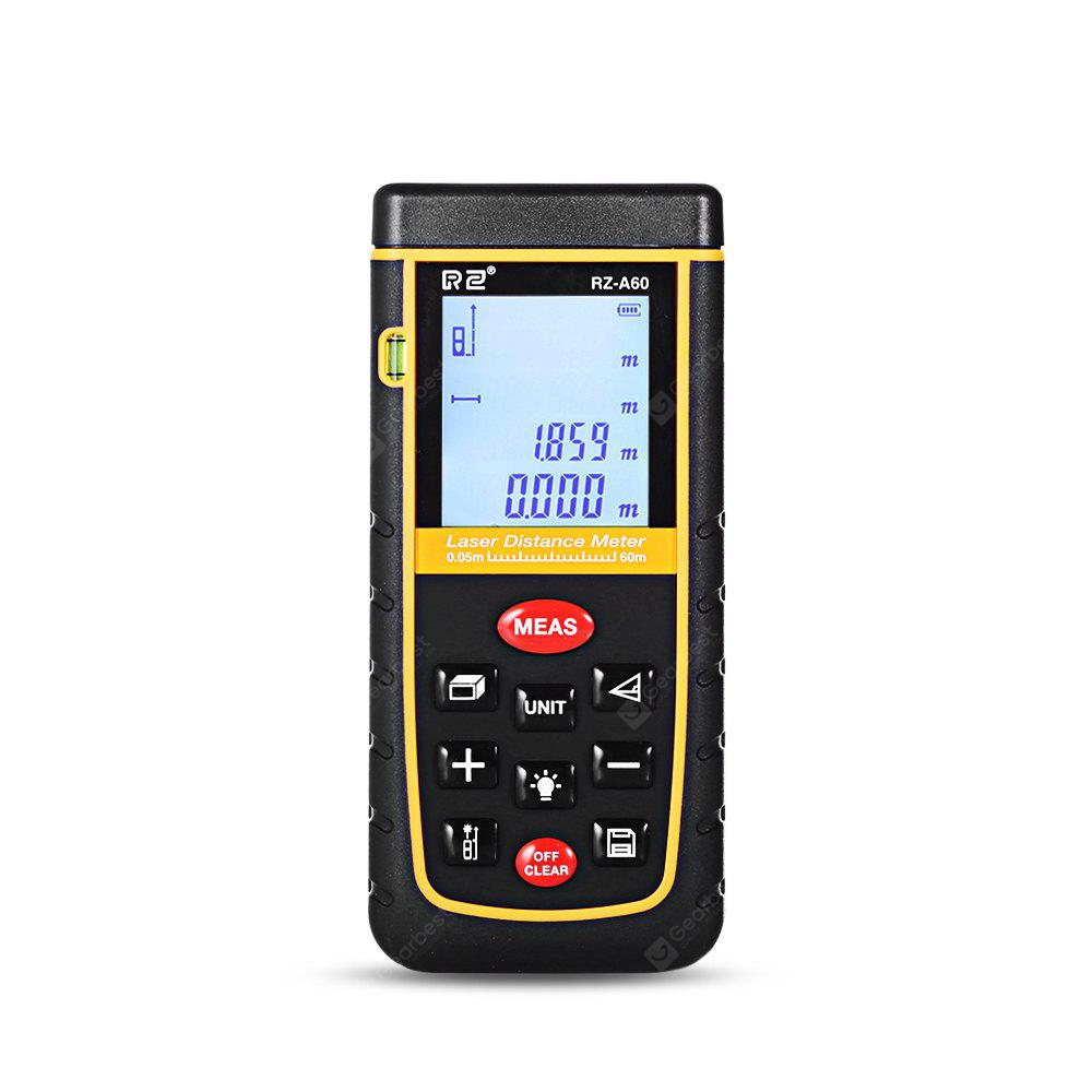 RZ A60 Laser Distance Meter 0.05 to 60m with Bubble Level