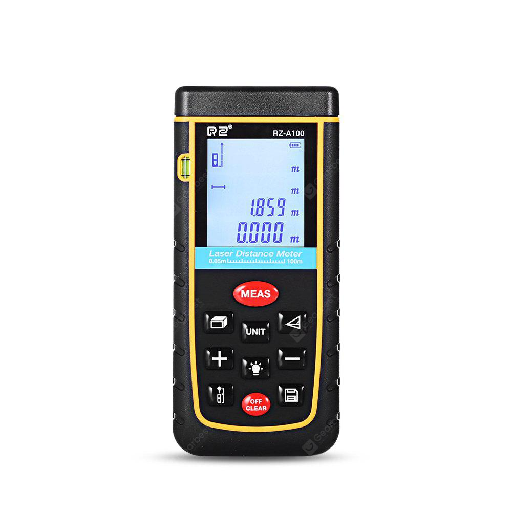 RZ A100 Laser Distance Meter 0.05 to 100m with Bubble Level