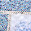 45 x 45cm DIY Pintura Lovely Lady Ribbon Stitch Pillow Cover - AZUL CLARO