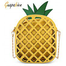 Guapabien Cut Out Pineapple Shaped Chain Crossbody Bag