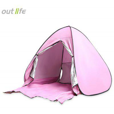 Buy LIGHT PINK Outlife Instant Setup 2 Person Beach Tent with Door Curtain for $28.20 in GearBest store
